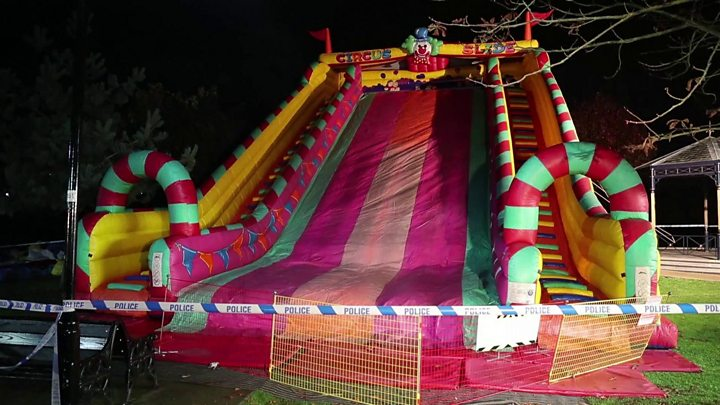 50027e037dade Woking fireworks  Eight children hurt in fall from inflatable slide - BBC  News