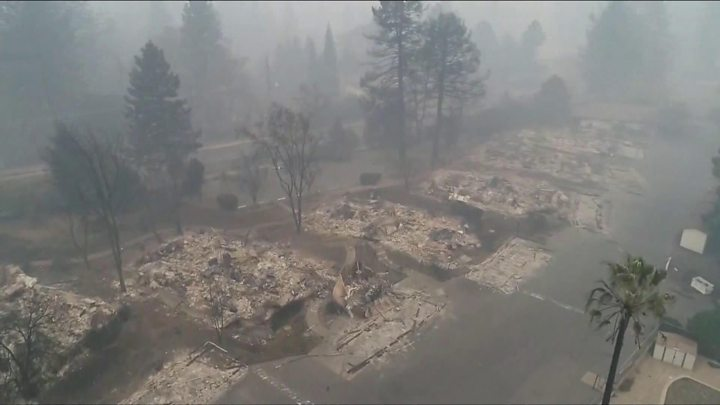 Camp Fire: Drone shows extent of devastation from California wildfire