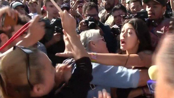 Migrant caravan: Mexican border city Tijuana protests arrival