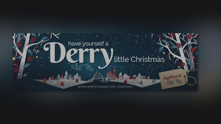 Christmas Billboard Removed After Derry Londonderry Row Bbc News
