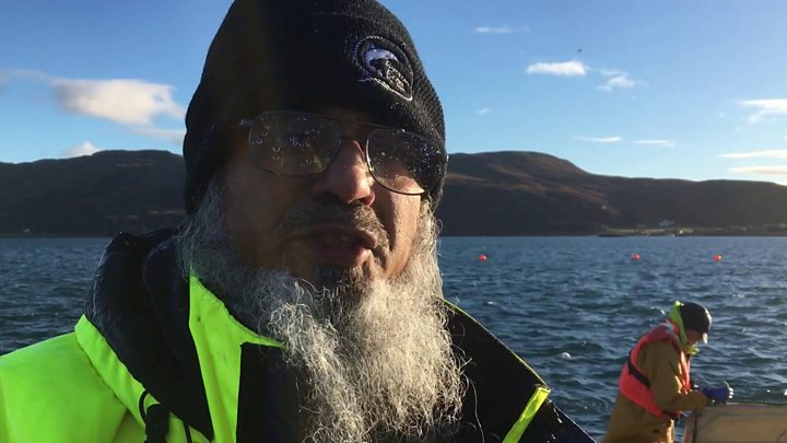 Meet the man who blesses Scottish salmon