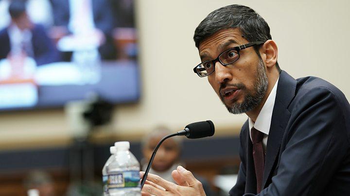 Google chief denies political bias claims