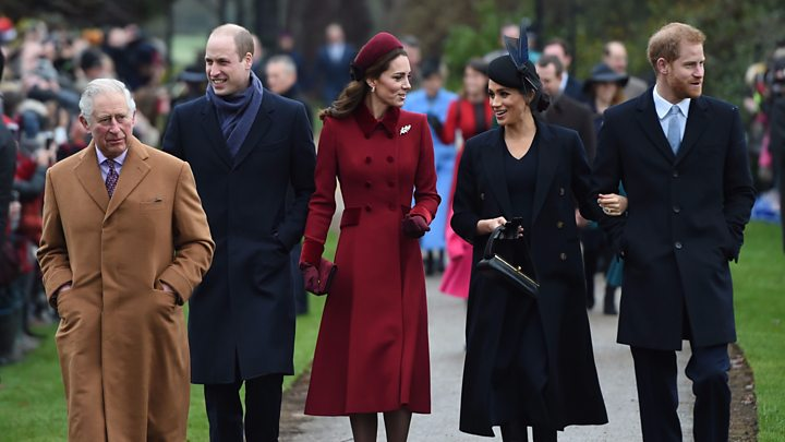 Royal Family Christmas.Royals Greet Sandringham Crowd After Service