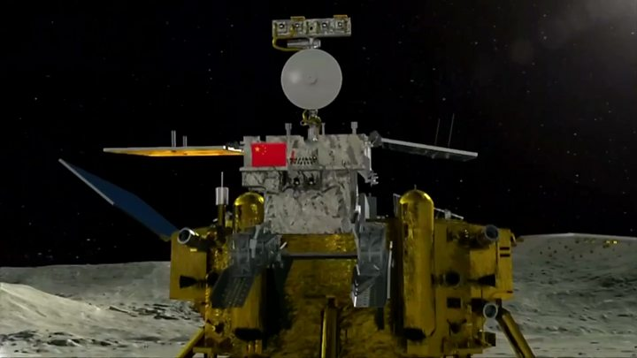 p06x2k4t - China mission lands on Moons far side