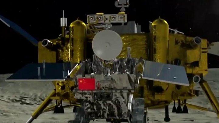 """ผลการค้นหารูปภาพสำหรับ ยานสำรวจ """"ฉางเอ๋อ-4"""" ของจีนลงจอดบนด้านมืดของดวงจันทร์ได้สำเร็จ"""