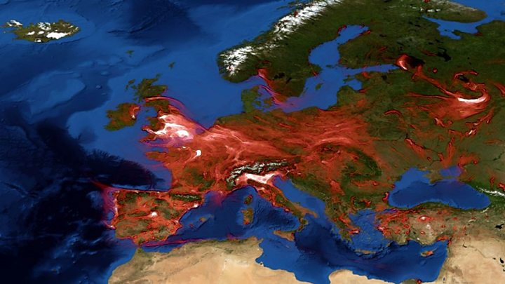 air pollution map europe