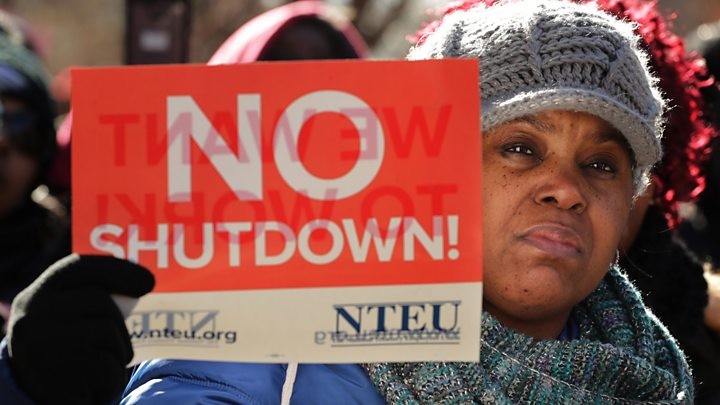 USA partisan divide on govt shutdown over border wall more sharply