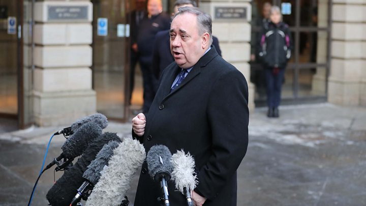 Scotland's former first minister Alex Salmond is arrested