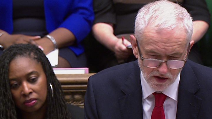 Brexit: May and Corbyn meet after PMQs clash