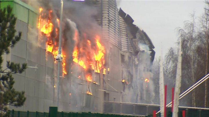 Fire service to remain at Ocado's damaged site for 'next few days'