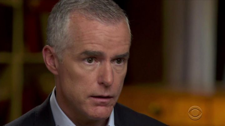 Trump lashes out at 'treasonous' officials after McCabe interview