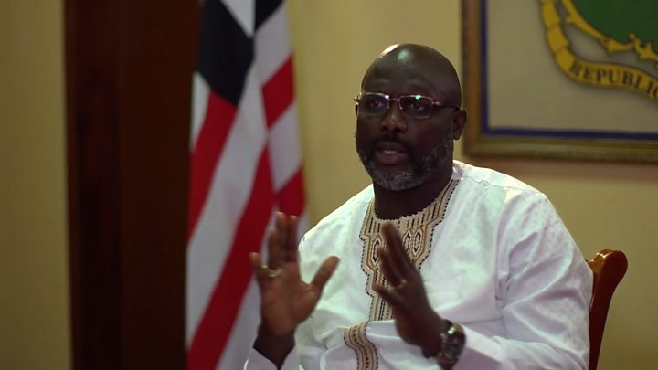 Liberia - where footballers are told 'not to tackle' President George Weah