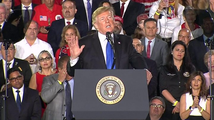 President Trump Addressed Venezuelan Americans In Southern Florida