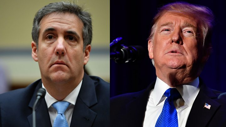 Cohen gives who's who of Trump allies, potential witnesses