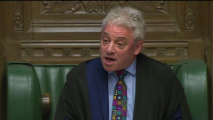 a7d2fb6a48c Speaker John Bercow rejects further Brexit votes without changes to motion