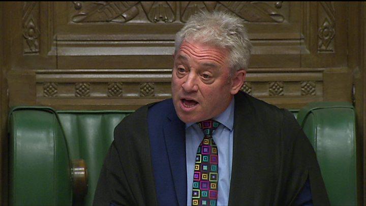 Third Brexit vote must be different - Speaker