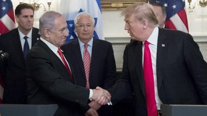 Netanyahu praises Trump for Golan move