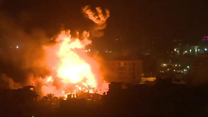 Israel strikes Hamas targets in Gaza after rocket hits house