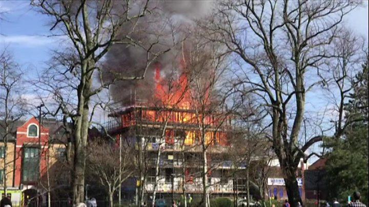 33526cfb71512 Southampton fire  Third boy arrested on suspicion of arson - BBC News