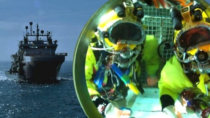 North Sea diver's accident miracle