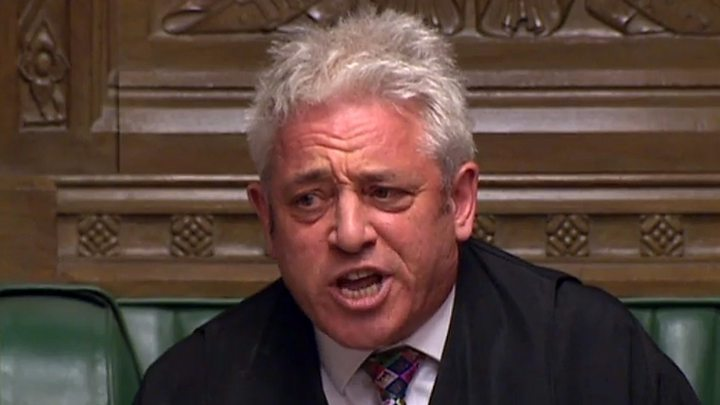 Commons Speaker John Bercow to stand down 19