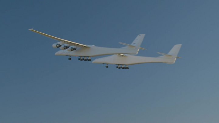 'World's largest plane' takes to the air