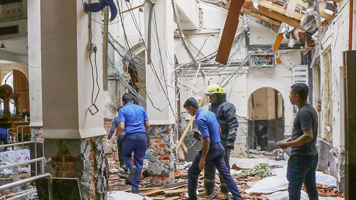 Sri Lanka's police detain seven suspects in series of deadly blasts