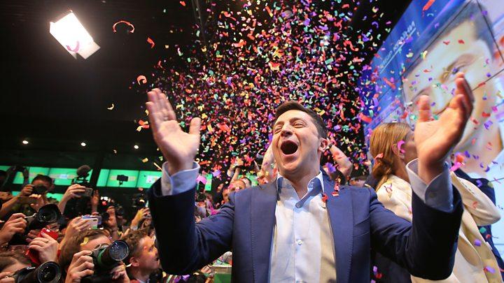 Comedian wins Ukraine's election