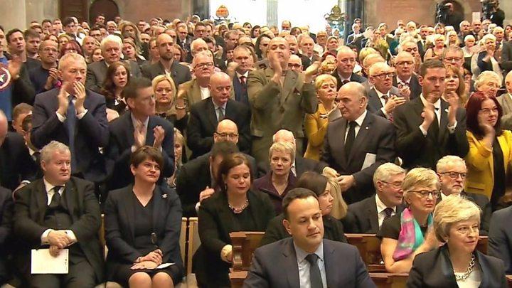 Fr Martin Magill says NI politicians felt pressure at Lyra McKee funeral