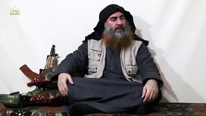 Image result for baghdadi video