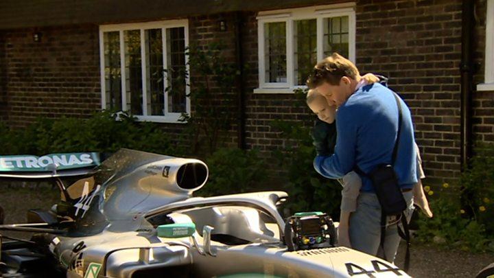 F1 car sent to home of Hamilton fan