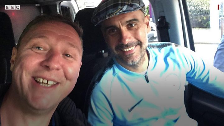 Man City fan gives Guardiola a lift home