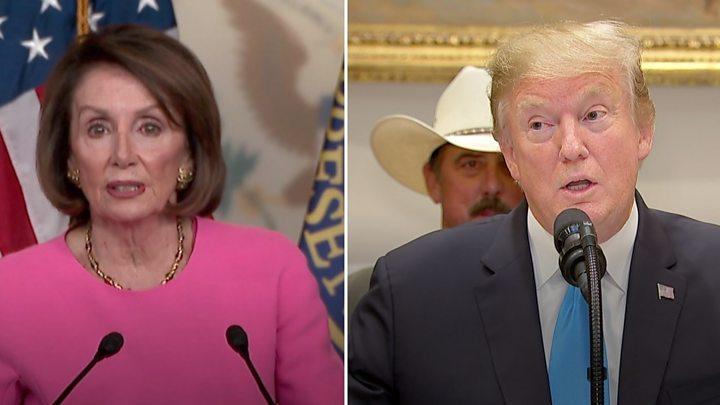 Trump and Nancy Pelosi trade barbs on mental stability