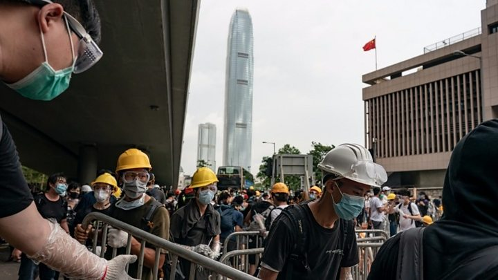 How Hong Kong demonstrators organised protests
