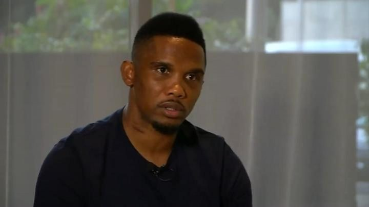 Media playback is unsupported on your device                  Samuel Eto'o encourage les Lions indomptables