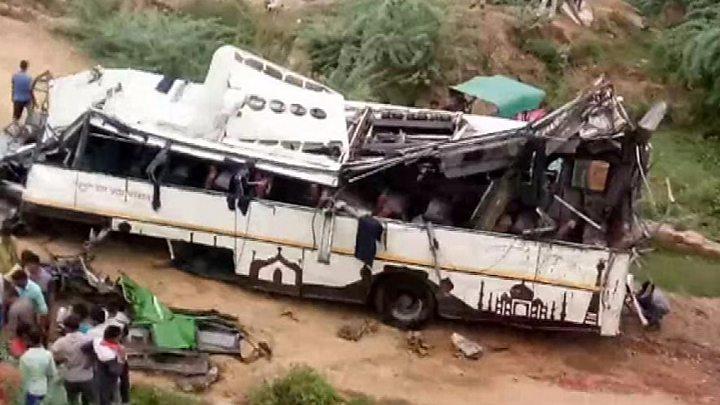 Bus Crash Kills 29 In Northern India Bbc News