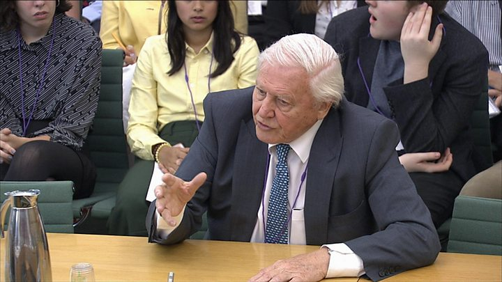 Sir David Attenborough questioned by MPs on climate change