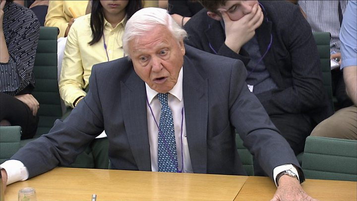 David Attenborough likens concern over plastic pollution to the abolition of slavery