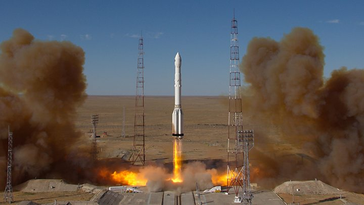 Blast-off for Russian rocket carrying telescope