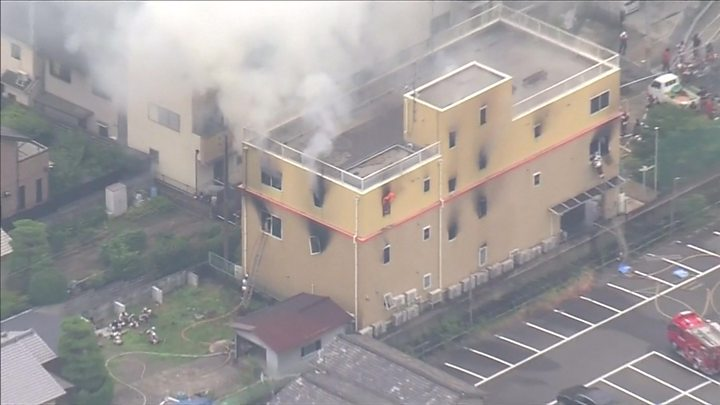 京都大火:动画工作室疑似纵火已致33人死亡