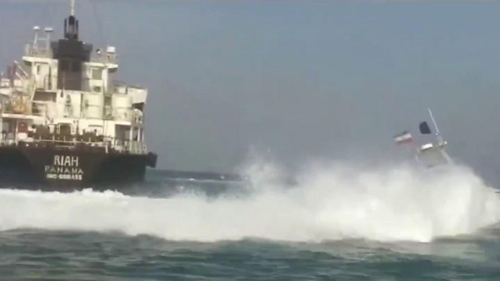 Footage of seized tanker released by Iran