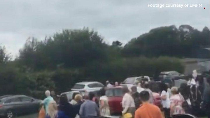 Car driven at crowd in Dundalk graveyard