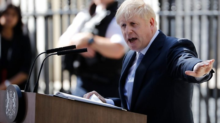 UK PM Johnson set out Brexit position to France's Macron