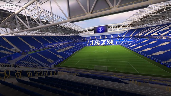 Everton reveal striking new stadium design
