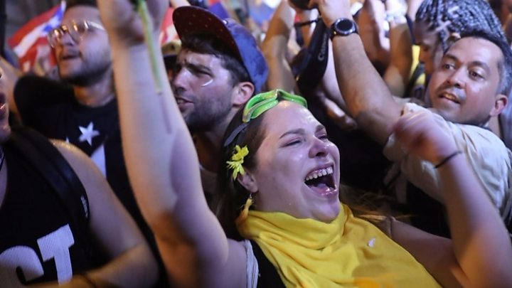 Celebrations As Puerto Rico Governor Resigns