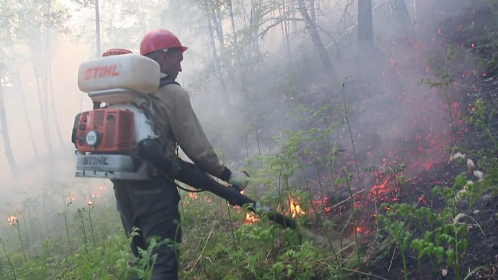 Massive wildfires rage on in Russia