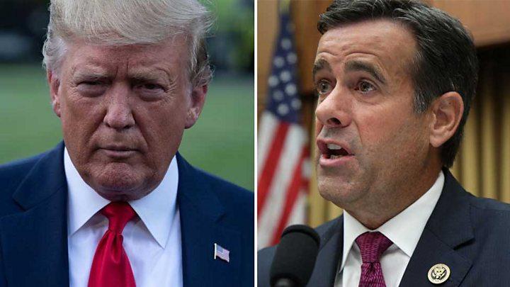 John Ratcliffe: Trump withdraws pick for US intelligence director