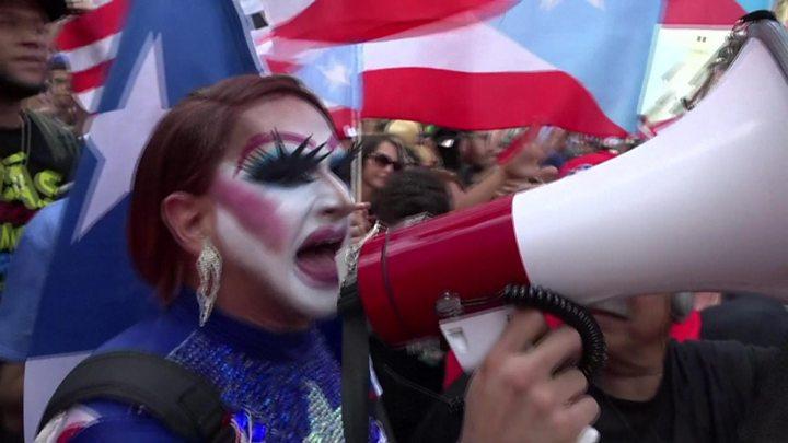 Celebrations As Puerto Rico Governor Steps Down