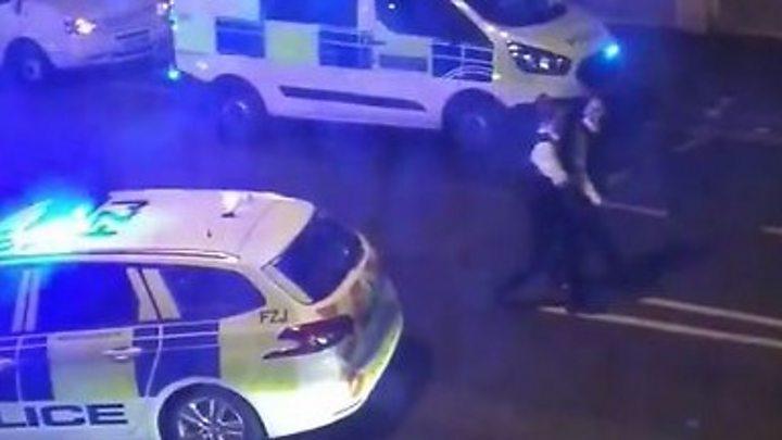 Police officer stabbed in London machete attack