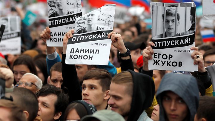'Up to 60,000' join Moscow protests